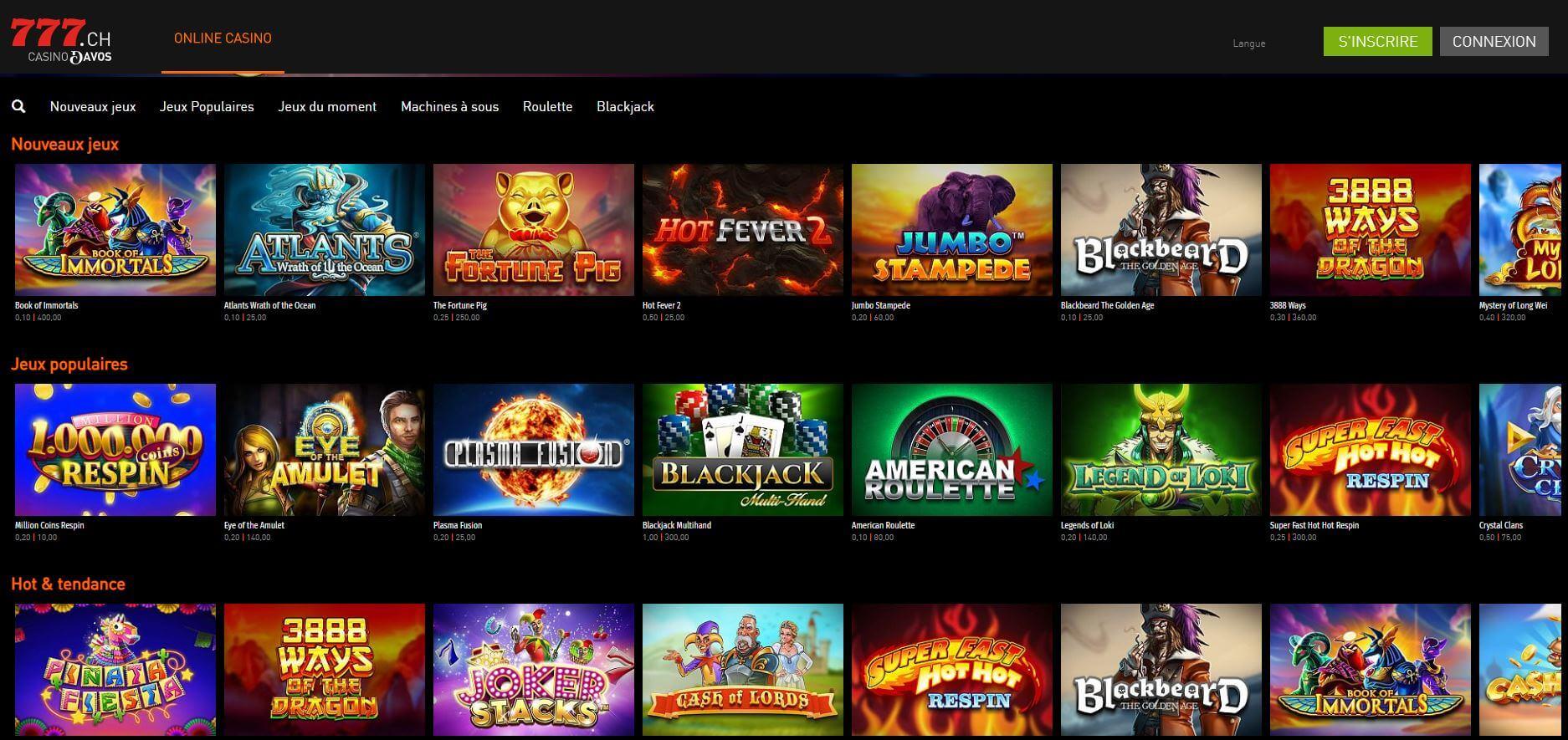 casino777 offre de jeux