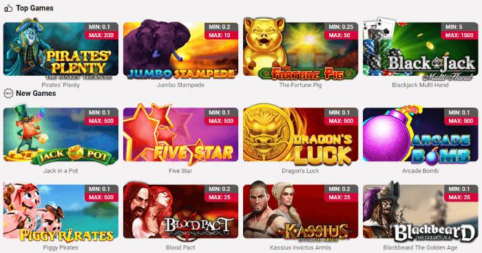 Jackpots.ch Casino Games