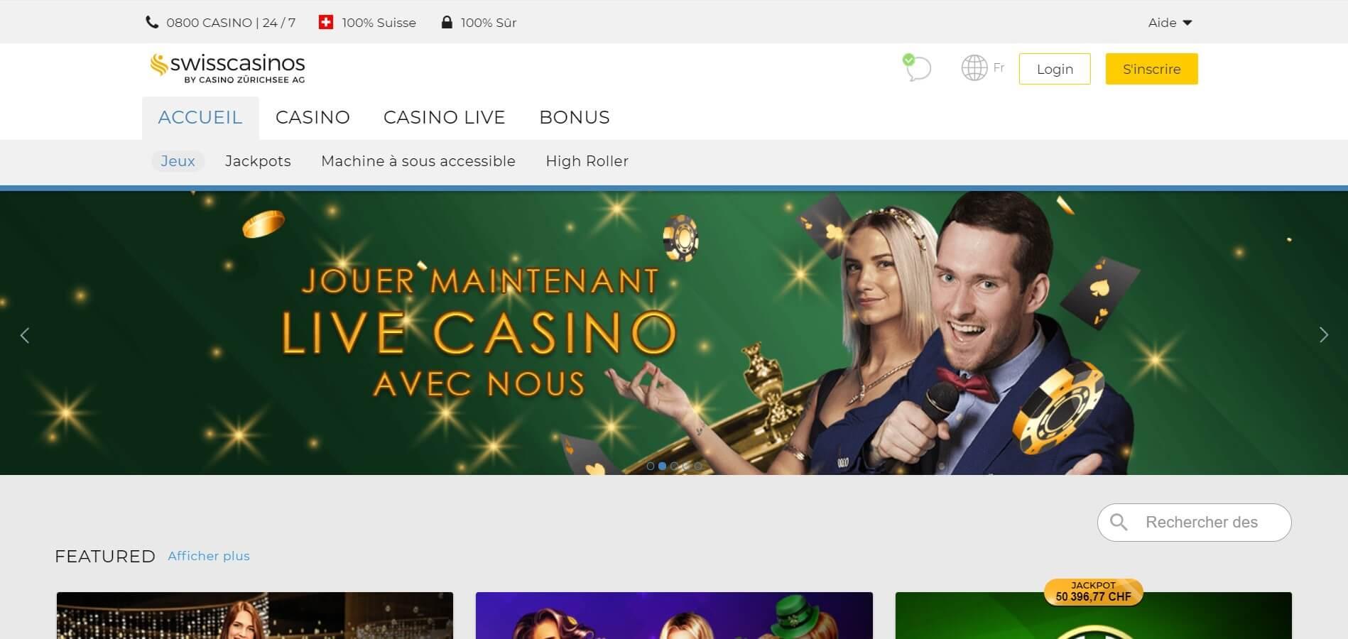 Avis détaillé sur SwissCasinos : offre, bonus, appli
