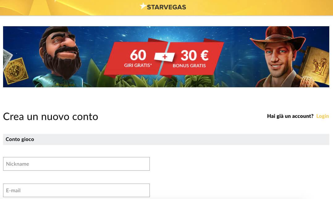 Inscription StarVegas : comment ouvrir un compte ?