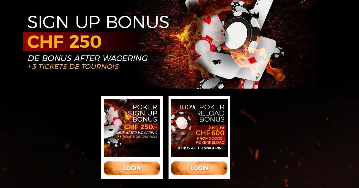 bonus swisscasinos poker