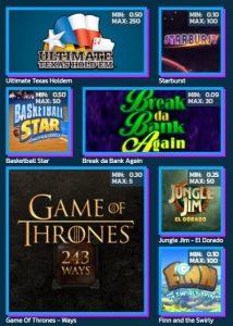 Hurrah Casino mobile version