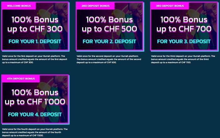 Hurrah Casino Promo Code