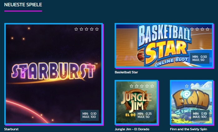 Hurrah Casino Spiele